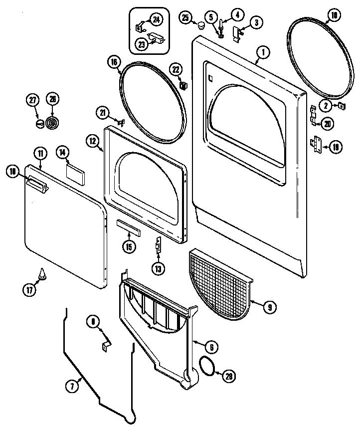 Magic Chef  Magic Chef Laundry  Door (yg209kv) (yg209kv)