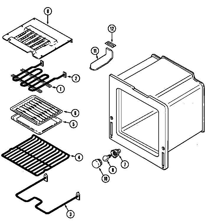Magic Chef 7898VRA oven (lower) diagram