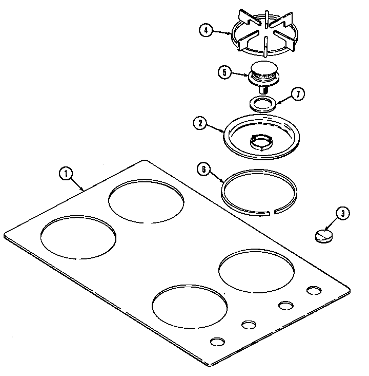 Magic Chef 8361RB top assembly diagram