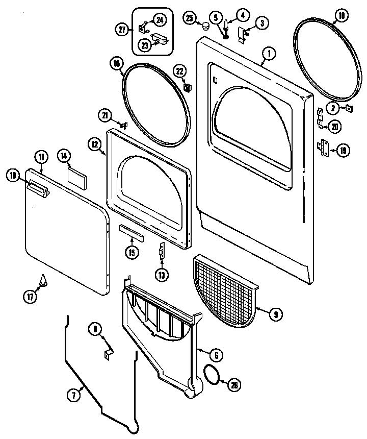 Admiral  Admiral Laundry  Door (ldea400ace) (ldea400ace)