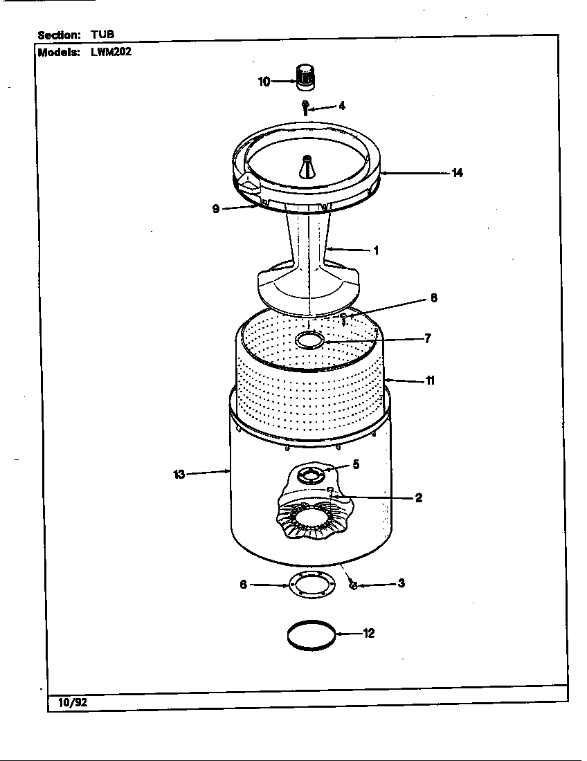 Norge LWM202A water carrying (rev. h-m) diagram