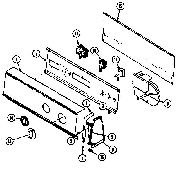 Crosley  Crosley Laundry  Control panel (rev. e-f) (cdg20p8a) (cdg20p8w)
