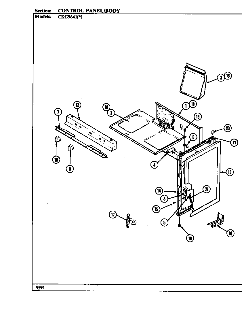 Hardwick CKG9641W589RGC body diagram