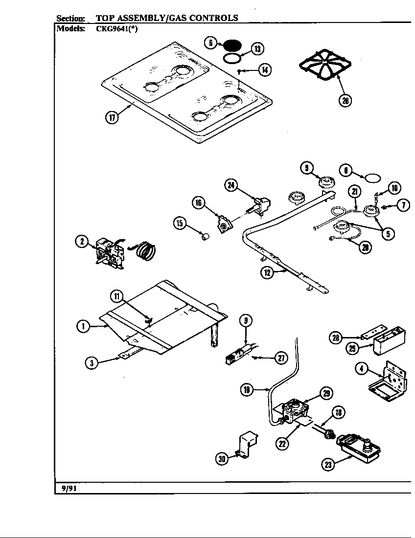 Hardwick CKG9641W589RGC controls diagram