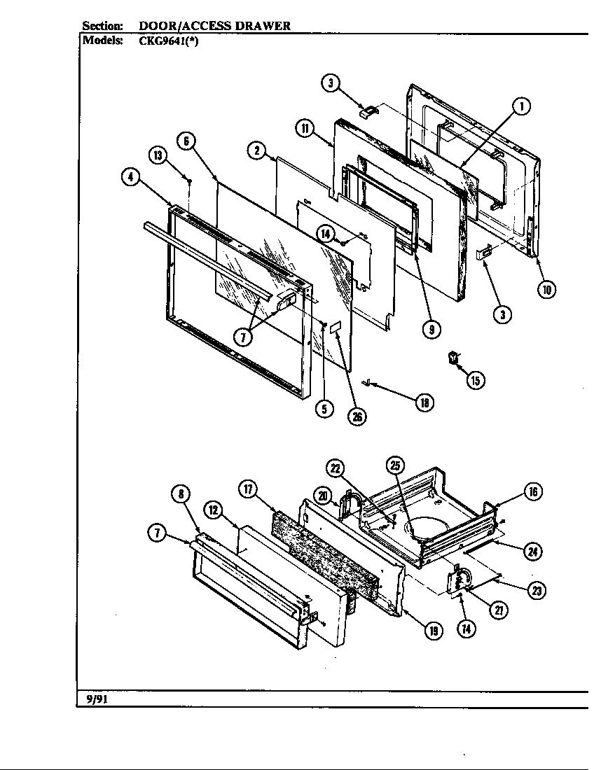 Hardwick CKG9641W589RGC door/drawer diagram