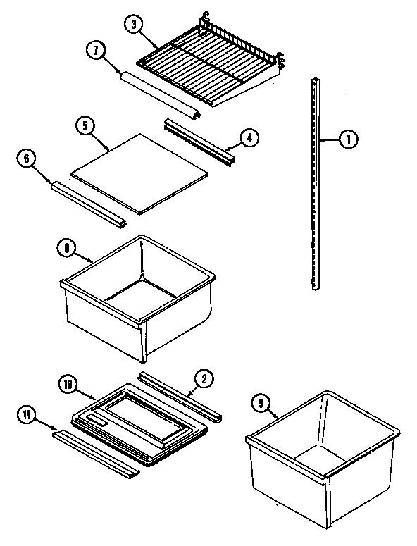 Admiral  Admiral Refrigeration  Shelves & accessories