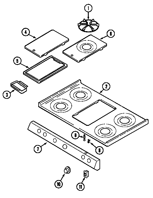Maytag GM4251WTW top assembly diagram