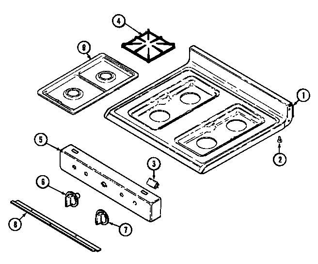 Magic Chef 31311WAW top assembly diagram