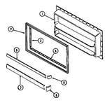 Maytag RTT1900EAM freezer inner door diagram