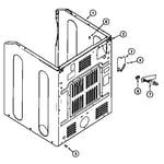 Maytag MUG15PDAEW cabinet-rear diagram