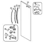 Maytag MSD2142ARW fresh food outer door diagram