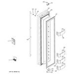 GE ZISS480NXDSS freezer door diagram