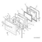 GE PHS920SF1SS door diagram