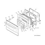 GE PS968SP2SS door diagram