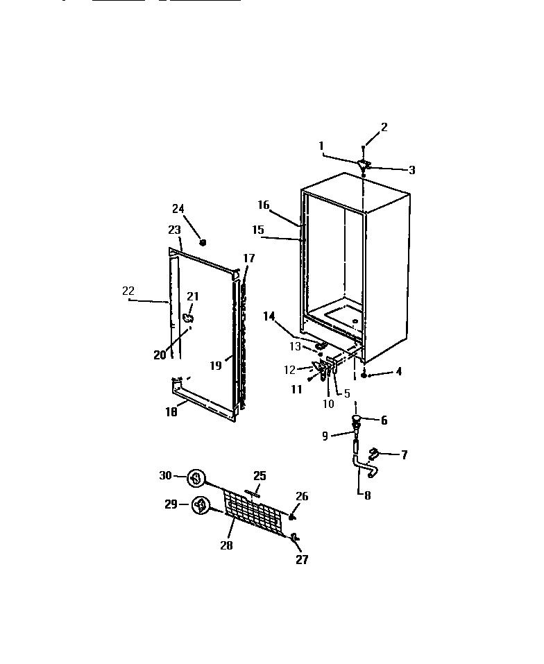 Kelvinator  Upright Freezer - K1700-88   Parts