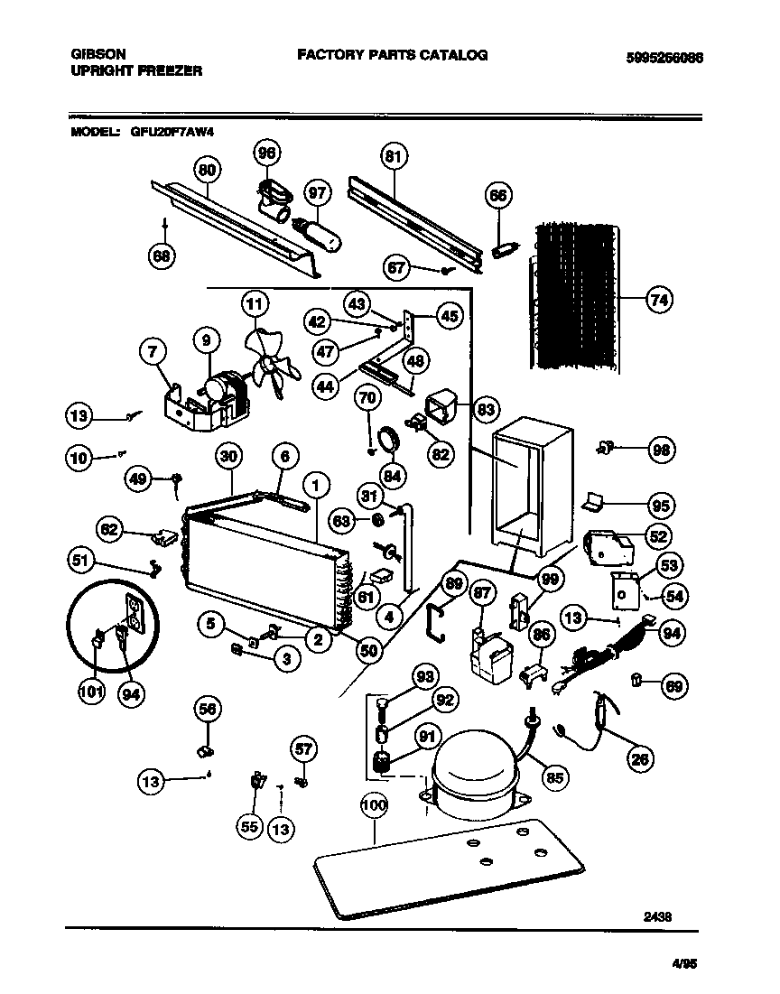Gibson GFU20F7AW4 system diagram