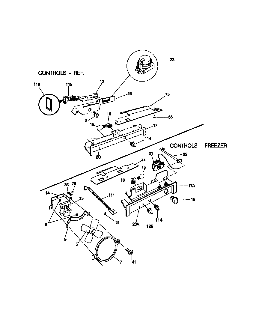 Universal/Multiflex (Frigidaire)  Refrigerator - 5995267878  Controls