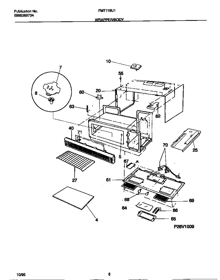 Frigidaire Countertop Stove Parts : ... Parts List for Model fmt116u1b0 Frigidaire-Parts Microwave-Parts