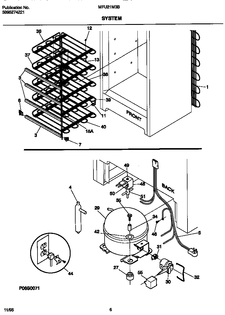 Universal/Multiflex (Frigidaire)  Upright Freezer  System