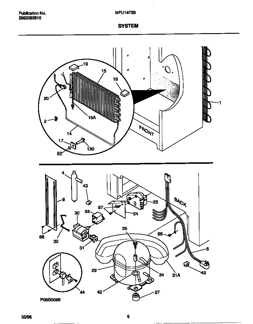 Universal/Multiflex (Frigidaire)  Upright Freezer - 5995282810  System