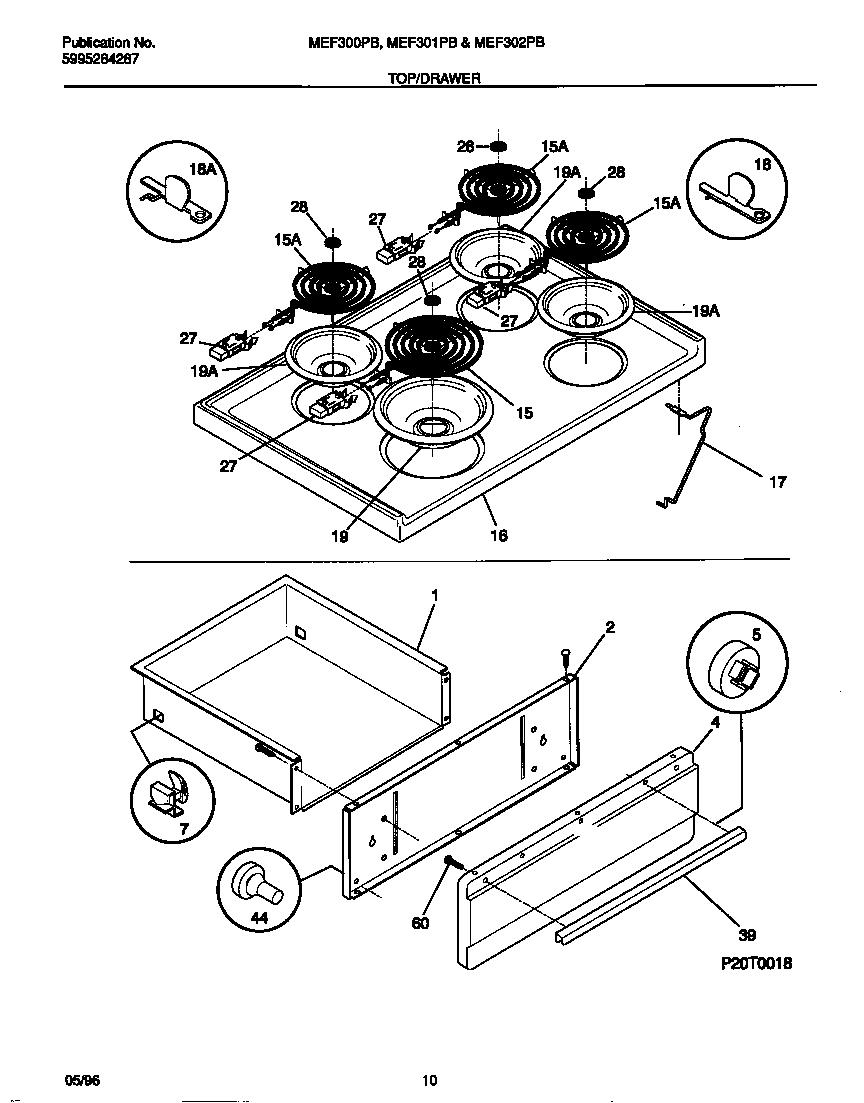 Universal/Multiflex (Frigidaire)  Electric Range - 5995284287  Top/drawer