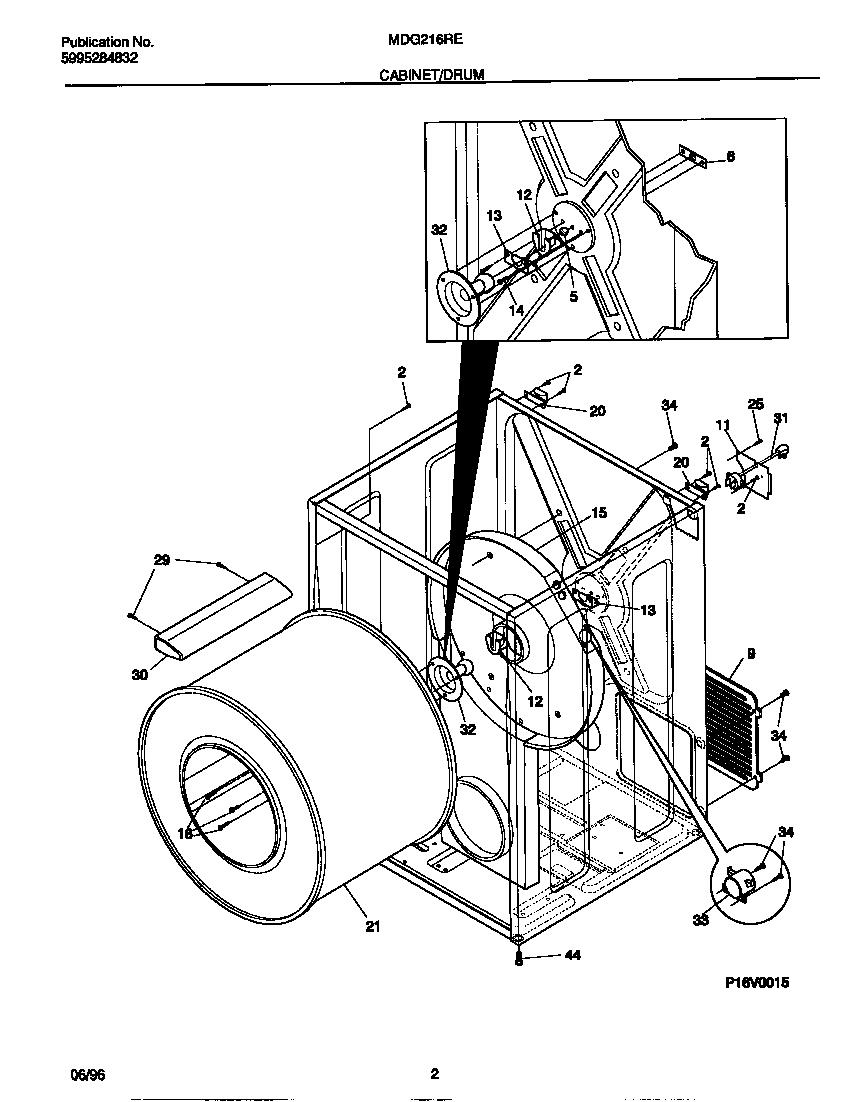 Universal/Multiflex (Frigidaire)  Gas Dryer - 5995284832  Cabinet/drum