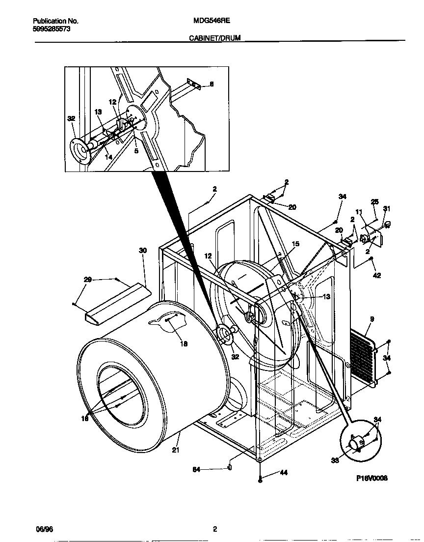 Universal/Multiflex (Frigidaire)  Gas Dryer - 5995285573  Cabinet/drum