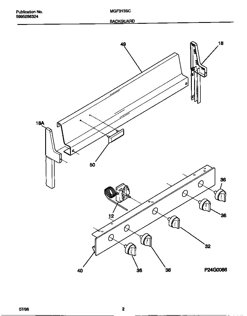 Universal Multiflex Frigidaire Model Mgf313scwc Range Gas Genuine Dryer Wiring Diagram Parts
