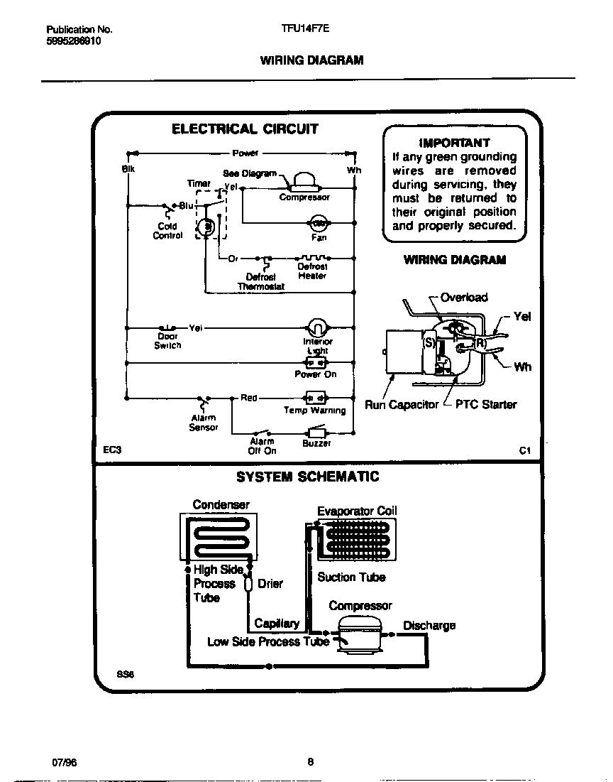Tappan  Tappan Upright Freezer - 5995286910  Wiring diagram