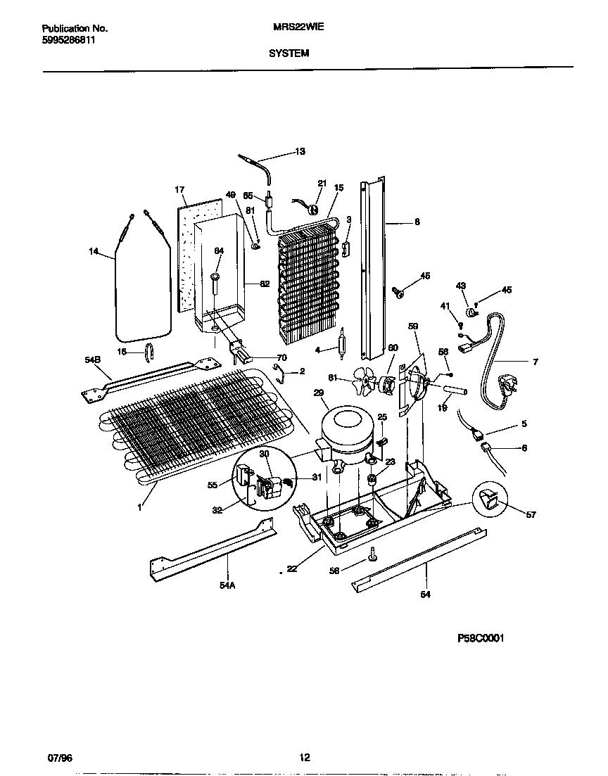 Universal/Multiflex (Frigidaire)  Side By Side Refrigerator - 5995286811  System