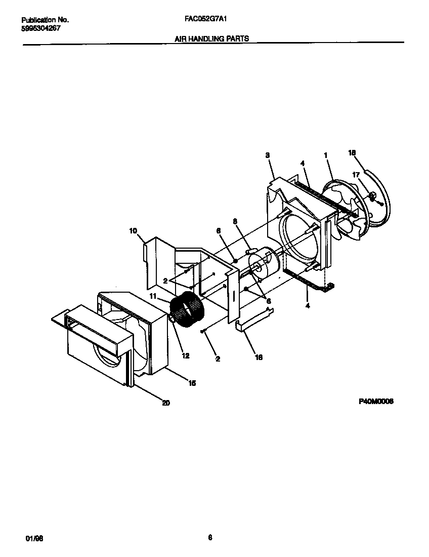 Frigidaire FAC052G7A1 air  handling  parts diagram