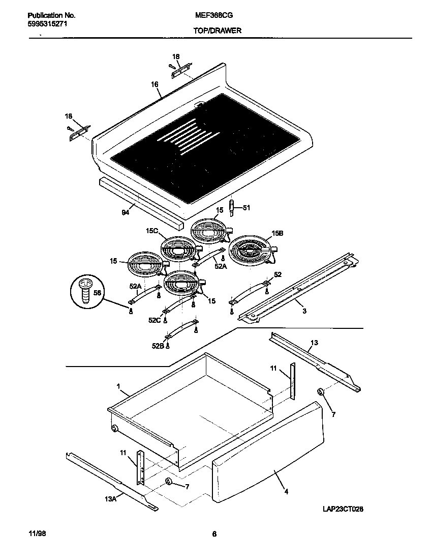 Universal/Multiflex (Frigidaire)  Electric Range  Top/drawer