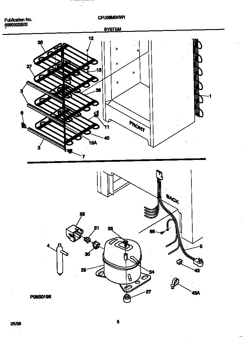 Universal/Multiflex (Frigidaire)  Freezer   Parts