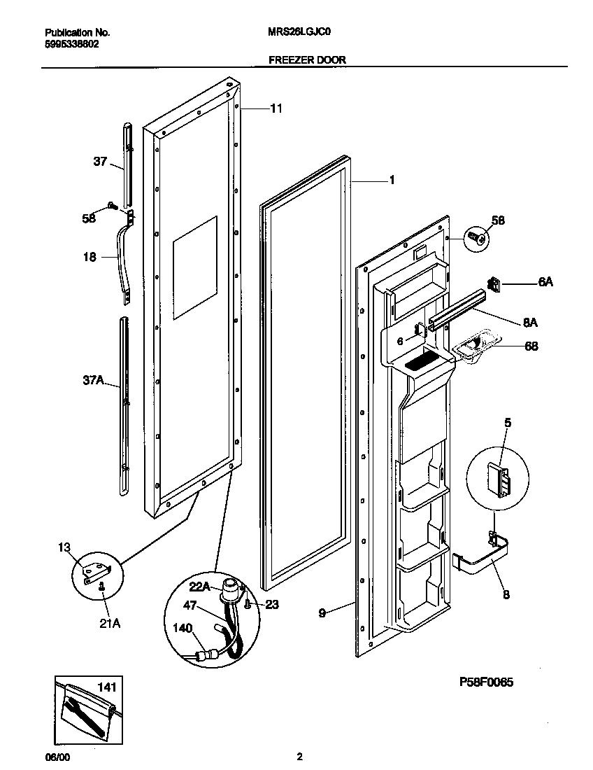 Universal/Multiflex (Frigidaire)  Universal Refrigerator - P5995338802  Frz door