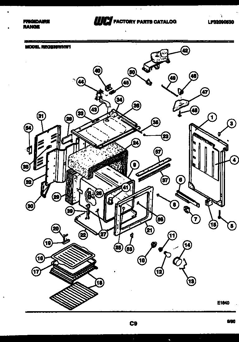 Frigidaire  Range - Electric - Lf32090530  Body parts