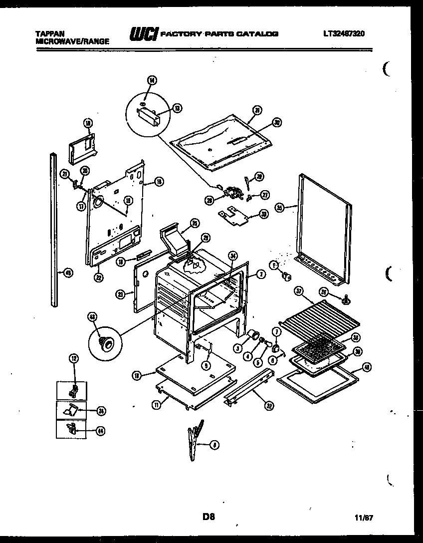 Tappan 76-8967-00-02 lower body parts diagram