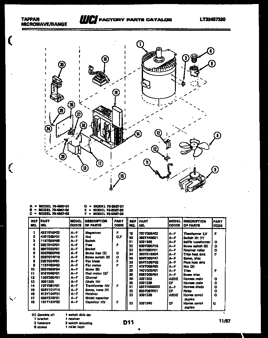 Tappan 76-8967-00-02 power control diagram