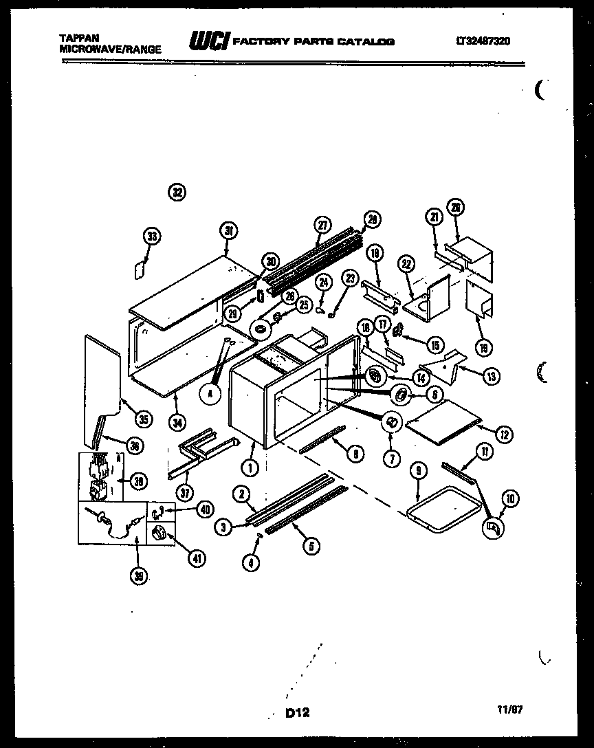 Tappan 76-8967-00-02 upper body parts diagram