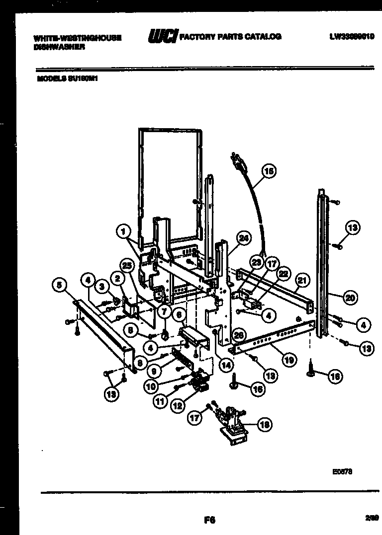 White-Westinghouse SU180MXR1 power dry and motor parts diagram