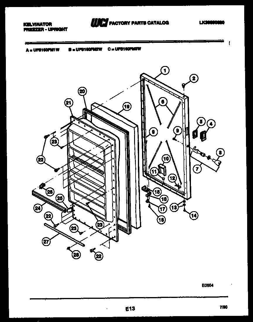 Kelvinator  Upright Freezer - Lk30890080  Door parts