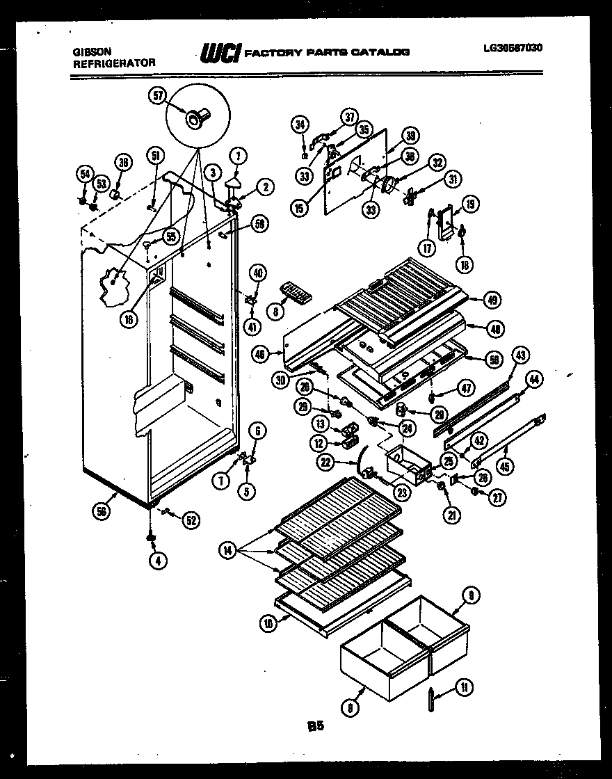 Gibson RD16F3WT3B cabinet parts diagram