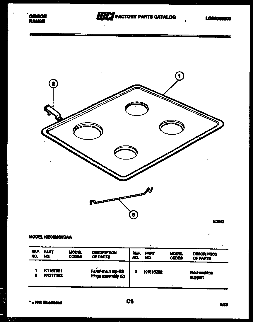 Gibson  Range - Electric - Lg32088200  Cooktop parts