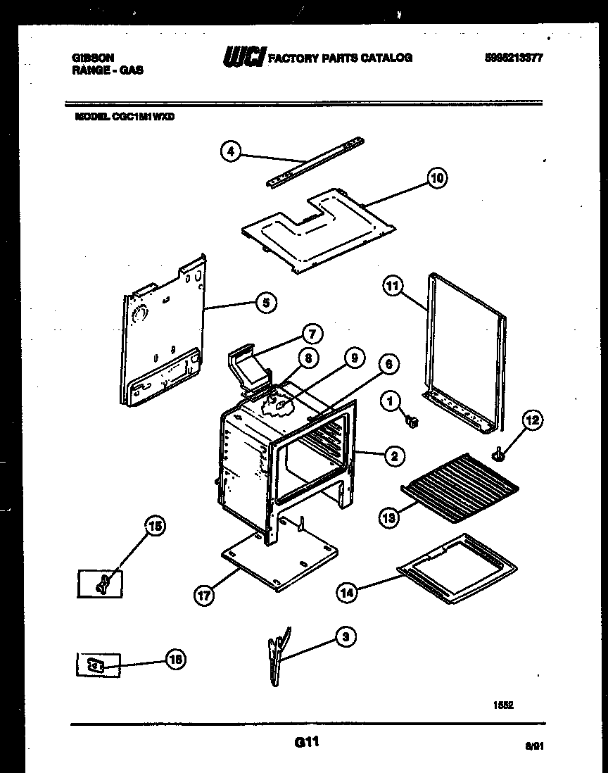 Gibson RT19F9YX3A shelves and supports diagram