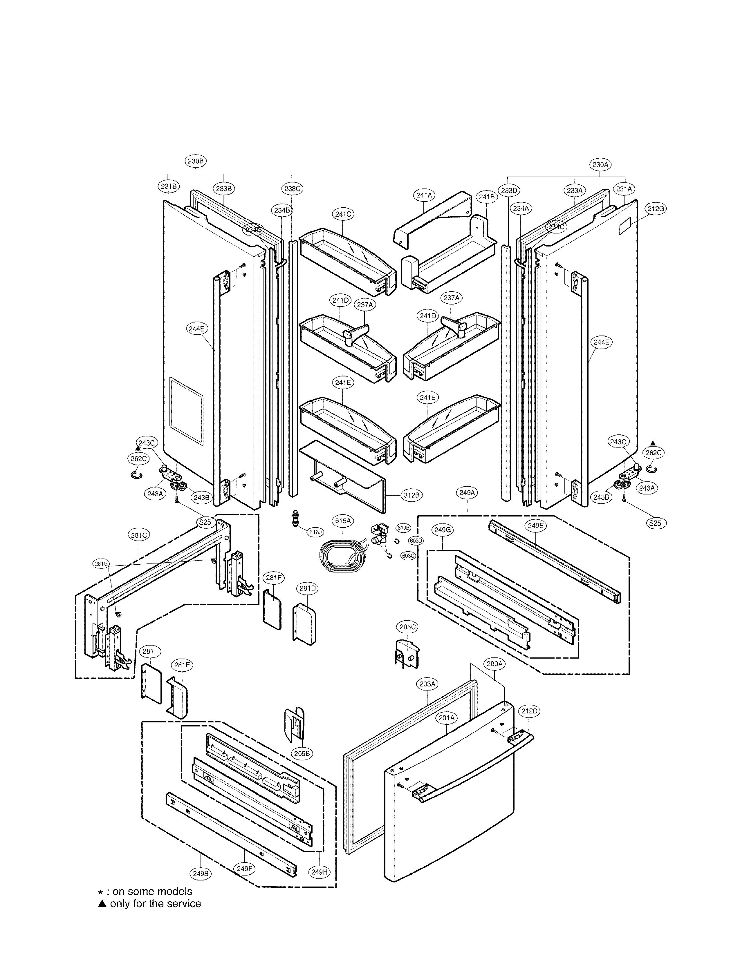Lg  Refrigerator  Door parts