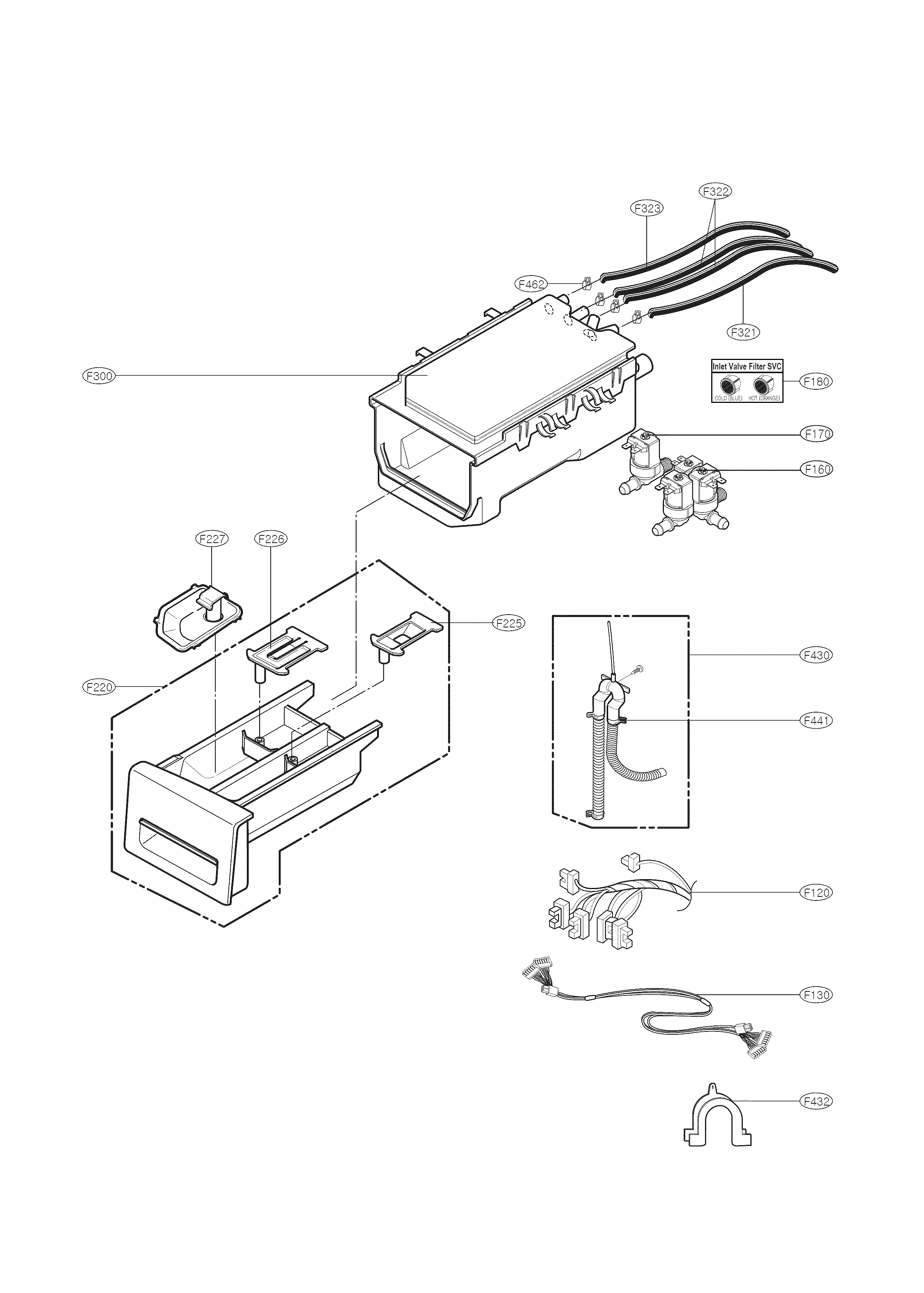 Kenmore 79641182311 dispenser part diagram