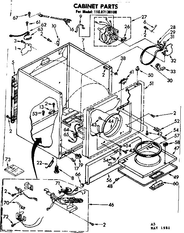 sears model 11087130100 laundry appliances division (26) genuine parts