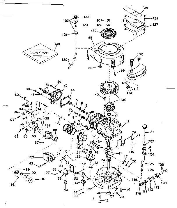 craftsman craftsman 4 cycle engine parts model 143214102 sears basic engine