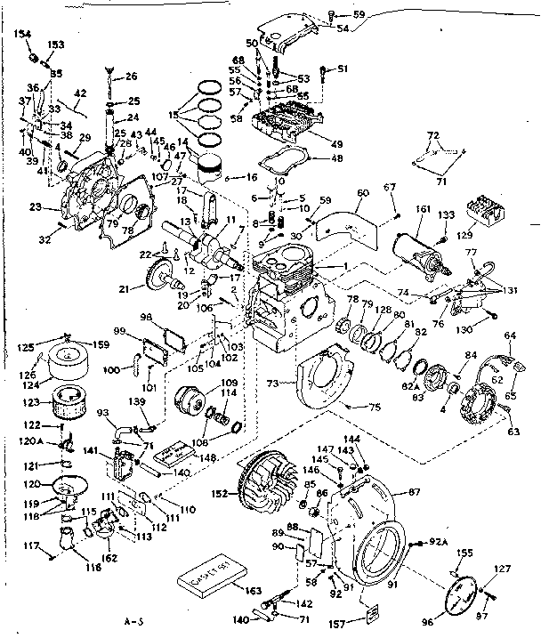 craftsman craftsman 4 cycle engine parts model 143 619012 basic engine