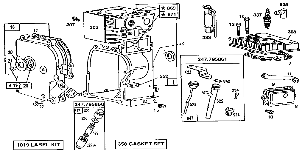 Briggs Stratton Model 190432 6117 01 Engine Genuine Parts