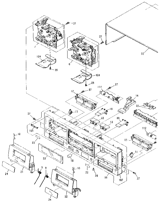 00063178 00003 pioneer cassette deck parts model ctw601r sears partsdirect honda pioneer 1000 parts diagram at gsmx.co